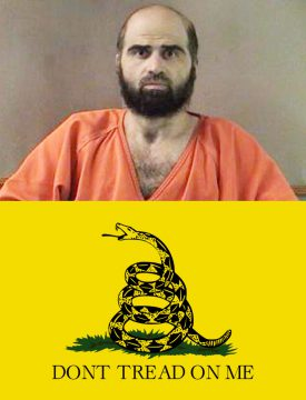 Nidal Hassan vs the Tea Party flag
