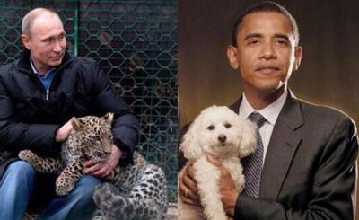 Obama vs. Putin, manliness
