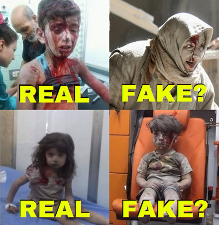 images of victims in East&West Aleppo: are they all real?