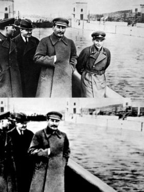 Nikolai Yezhov disappearing from Stalin's side after a retouch