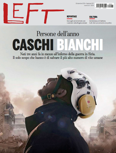"Cover of the Italian Magazine ""Left"", January 2017"