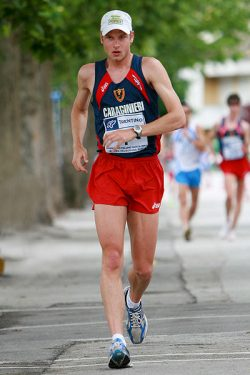 Alex Schwazer in Borgo Valsugana 20Km competition, 2008