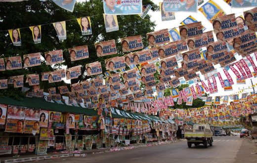 Philippines, electoral advertising in the streets
