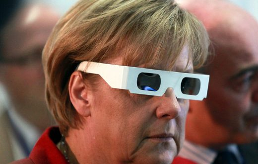 Angela Merkel, 3D glasses