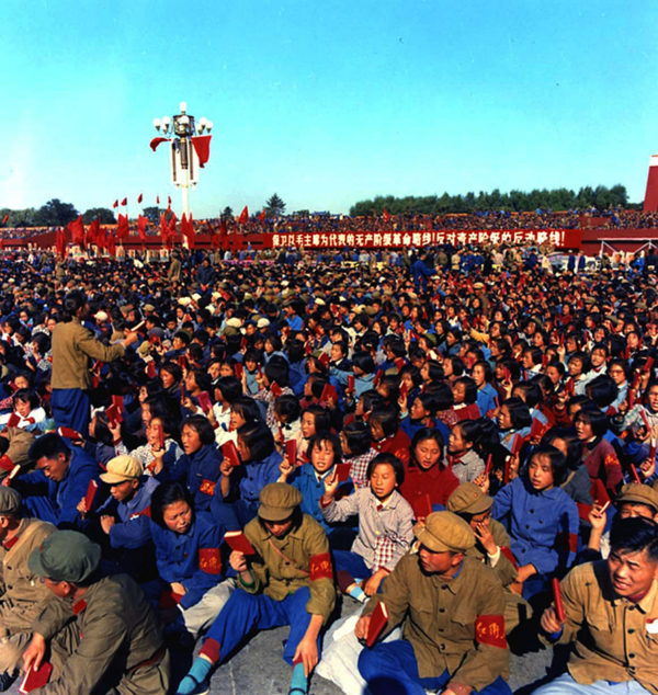 Red Guard mass gathering during Mao's Revolution