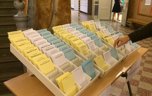 Swedish ballots in full display, forcing people to vote openly