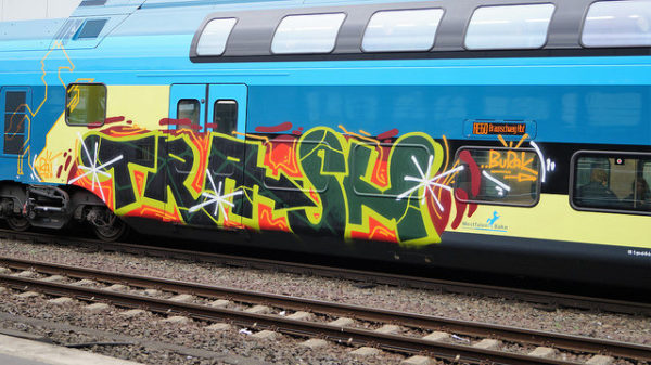 graffiti on a train